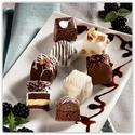 Thumb kabobs petit fours black and white